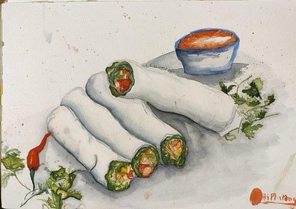 Enjoy Hanoi delicacies through sketches -0