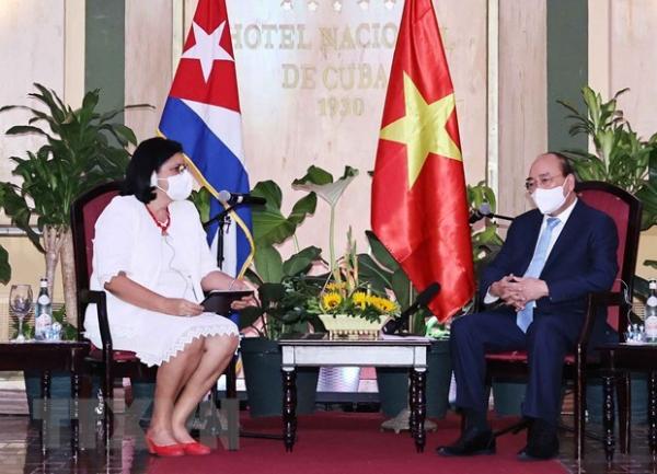 President receives leaders of Cuba – Vietnam friendship organisations -0