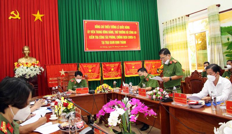 Thứ trưởng Lê Quốc Hùng kiểm tra công tác phòng, chống dịch COVID-19 tại Trại giam Định Thành -0