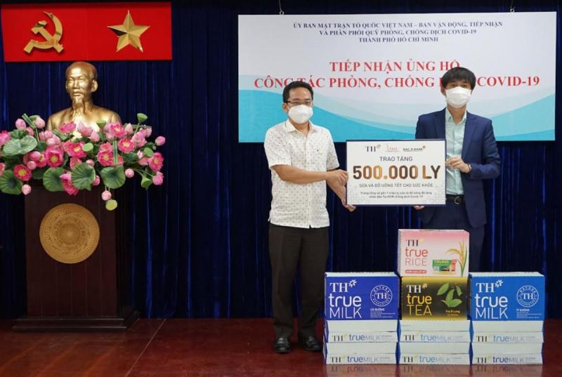 BAC A BANK cùng Tập đoàn TH trao tặng hơn 500.000 sản phẩm ủng hộ công tác phòng, chống dịch COVID-19 -0