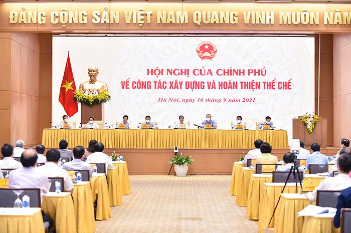 Thủ tướng chủ trì hội nghị về xây dựng và hoàn thiện thể chế -0