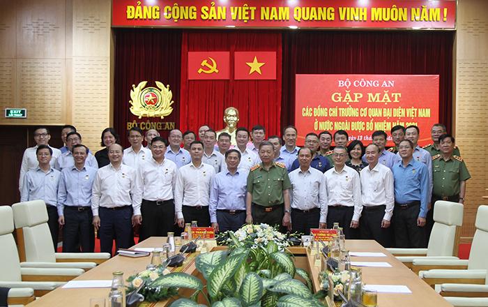 Bộ Công an gặp mặt các đồng chí Trưởng Cơ quan đại diện Việt Nam ở nước ngoài -0